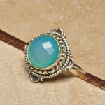 chalcedony ring 925 6.25